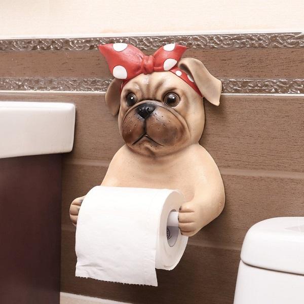 Bulldog Toilet Paper Holder