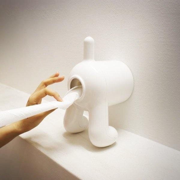 Dog Rear Toilet Paper Holder