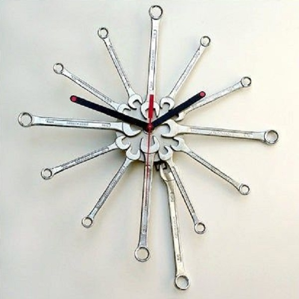 Spanner Turned Into A Wall Clock