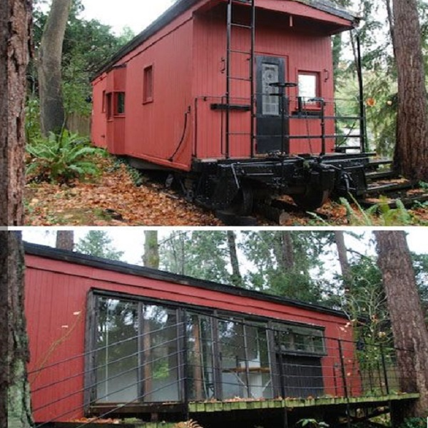 Old Train Carriage Turned into a Home