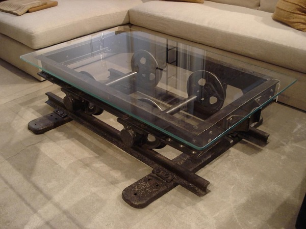 Mine Cart Turned into a Coffee Table