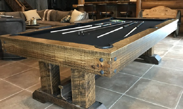 Pool Table Made From Railway Sleepers