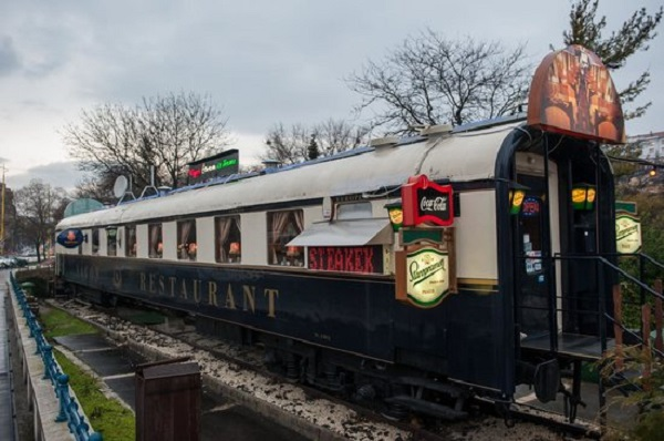 Old Train Carriage Turned into a Restaurant