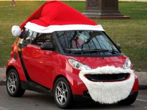 Ten Festive Vehicles With Santa Hats on to Drive Around in This Christmas