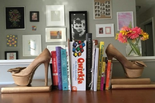 BookEnds Made With Old Shoes and Trainers!