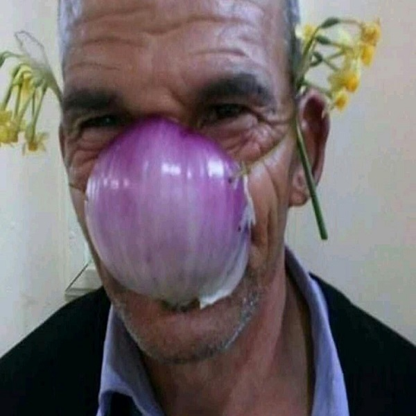 A Face Mask Made From an Onion