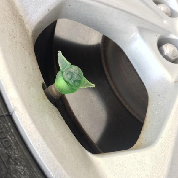 Baby Yoda Tyre Valve Caps