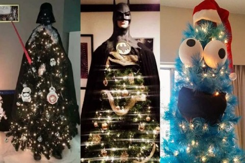 Ten Wild and Crazy Christmas Trees Shaped Like Characters