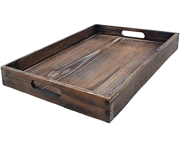 3. Wooden Serving Tray