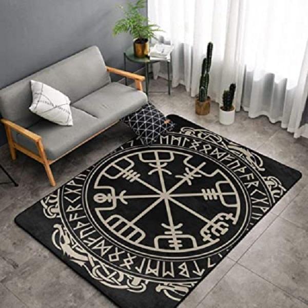 5x7FT Vegvisir Large Area Floor Rug