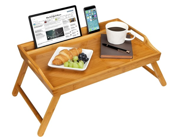 9. Home Bed Tray With Phone Holder
