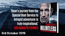 Sir Ranulph Fiennes (world famous explorer) endorsing Relentless