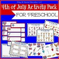 July 4th Preschool Pack