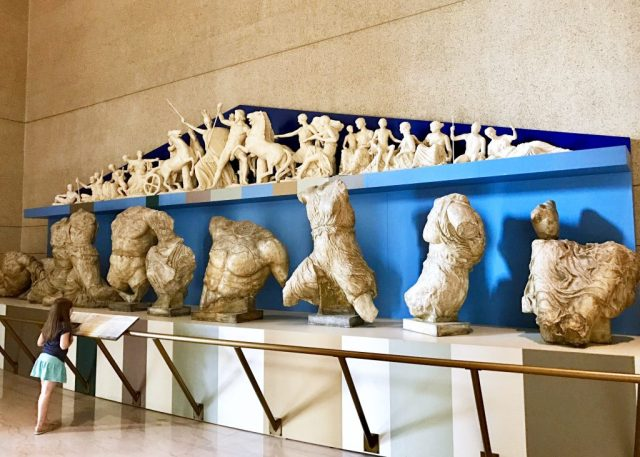Marbles Replicas at the Parthenon