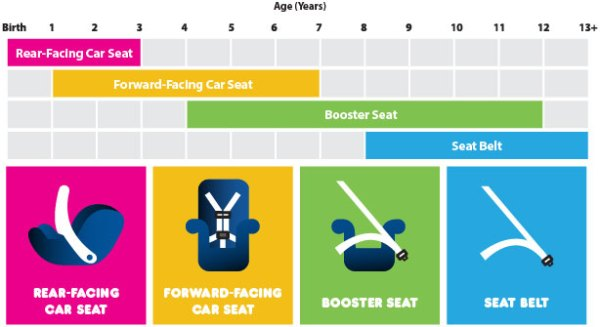 Recommended Car Seat Graphic