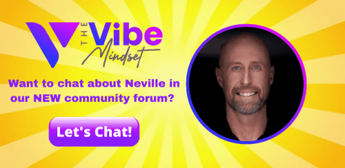image on an invite to Neville Goddard chat community area