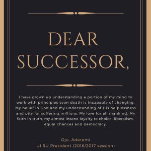 Cover page dear successor