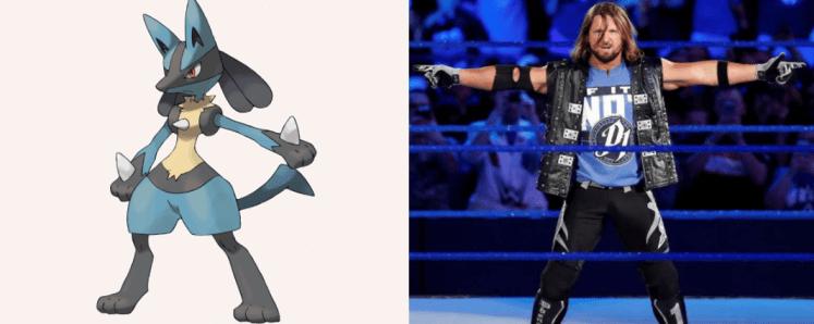 Lucario AJ Styles 1024x408 - Which Pokémon Resemble WWE Superstars?