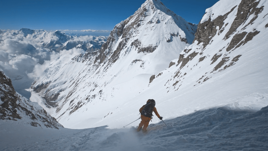 The North Face Follows Two Skiers Up 4th Highest Mountain In The World image of the North Face