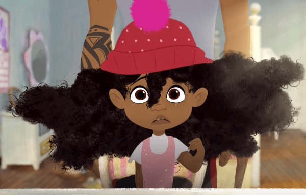 "Watch Sony's Animated Short Film ""Hair Love"" About A Father And Daughter image of Hair Love"