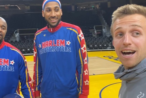The Harlem Globetrotters Ditch Basketball And Play Football Instead image of Harlem Globetrotters