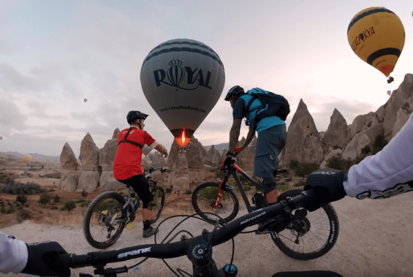 GoPro Go On A Mountain Bike Adventure At A Turkish Hot Air Balloon Festival image of GoPro