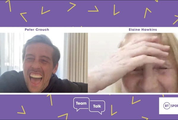 Peter Crouch Surprises A Fan Over Video Chat With BT Sport image of Peter Crouch