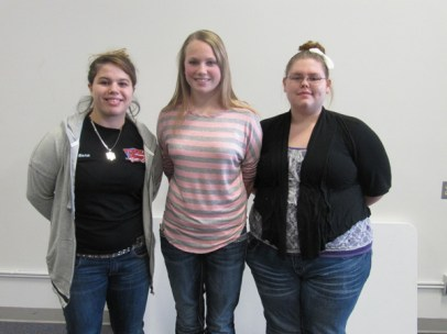 Leonora Ajora, Shelby Linaweaver and Melissa Smith (Not pictured - Katie White)