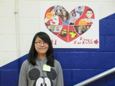 A poster design competition was also held in Mr. Palmer's Art Classes. Pictured is the winner, Natalie Chambless, a Sophomore at VHS.