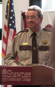 Johnson County sheriff Elry Faulkner will soon complete 40 years of service to his home county.