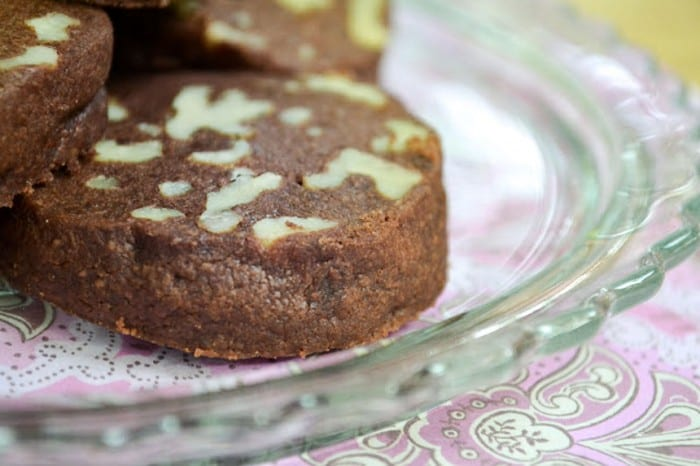 Chocolate Walnut Shortbread Cookies ~ theviewfromgreatisland.com