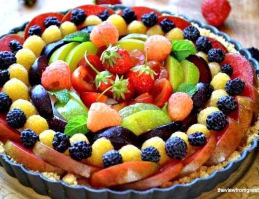 panna cotta fruit tart