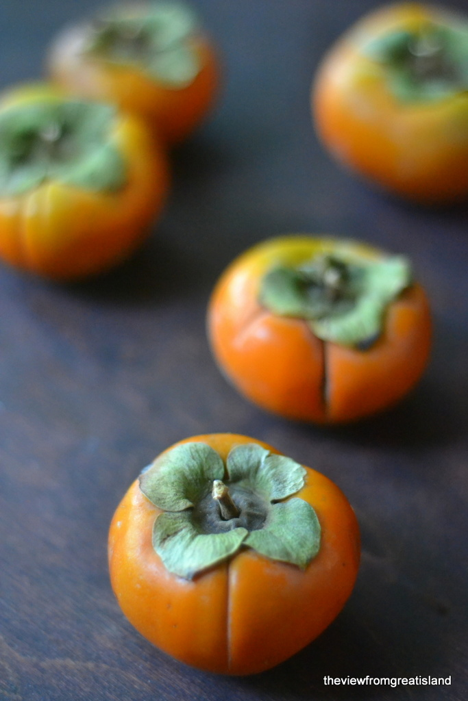 Fuyu Persimmons for Persimmon Rum Punch