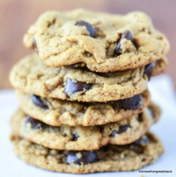 Image result for Flourless Almond Butter Chocolate Chip Cookies\