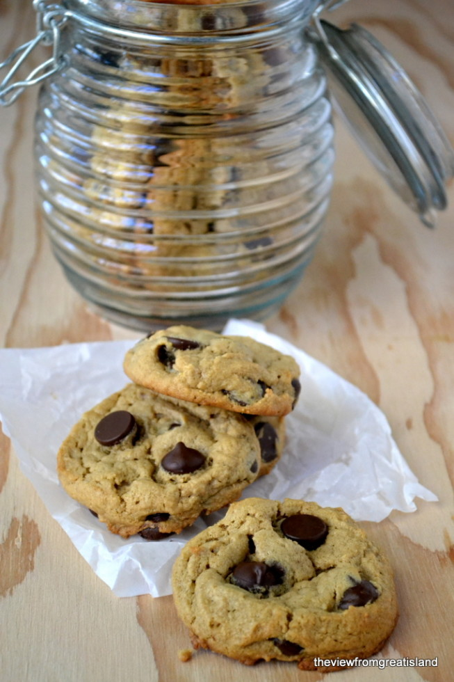Flourless Peanut Butter Chocolate Chip Cookies, Gluten Free | The View from Great Island 9