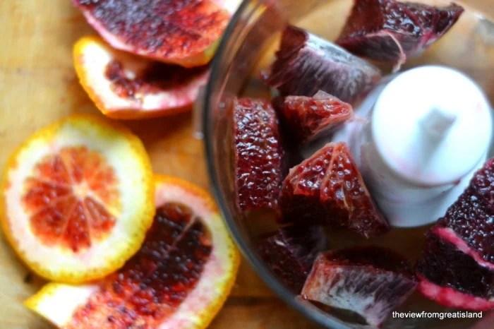 making blood orange vinegar