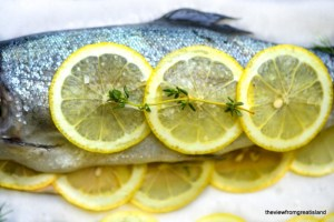 Whole Baked Trout with herb Salsa