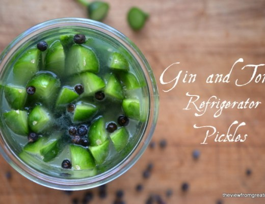 Gin and Tonic Refrigerator Pickles | The View from Great Island 4
