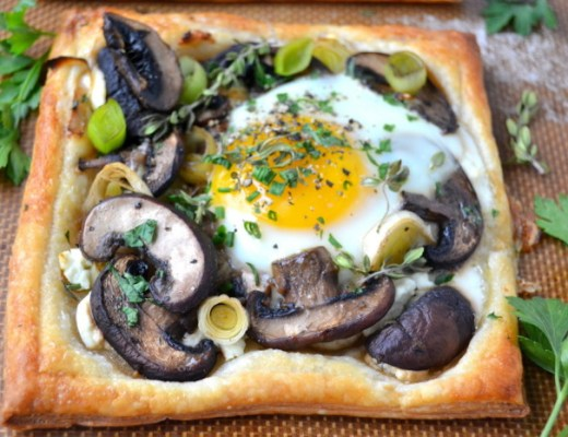 Mushroom and Egg Breakfast Pastries1