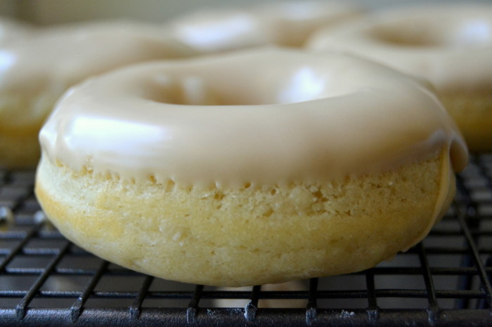 Baked Buttermilk Doughnuts with Maple Glaze