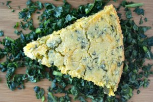 Cheddar Kale Skillet Cornbread 6