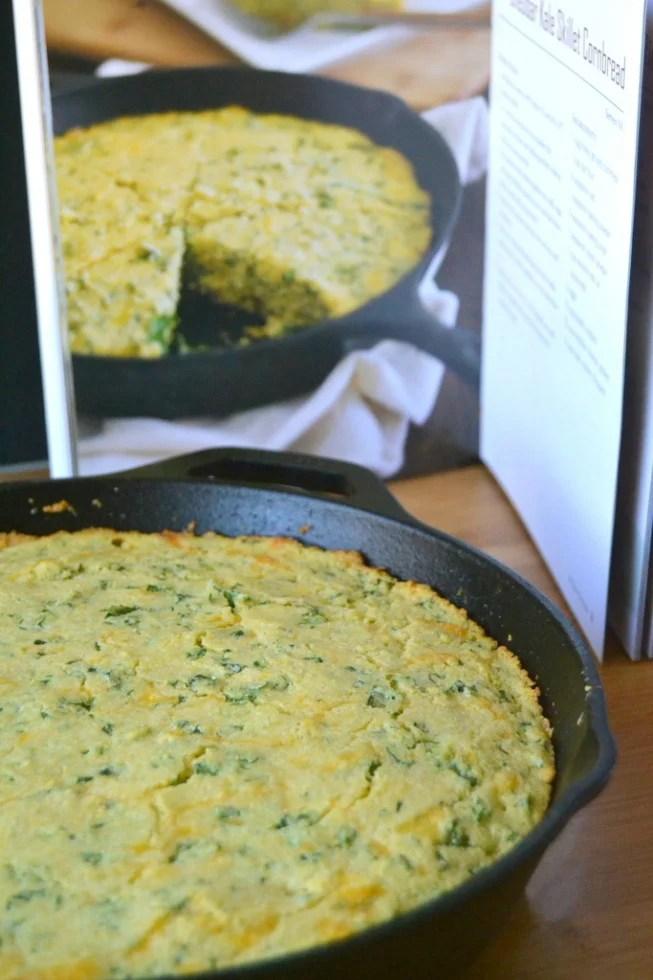 Cheddar Kale Skillet Cornbread 2