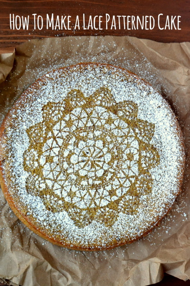Easy instructions for how to decoate a cake with lace 2