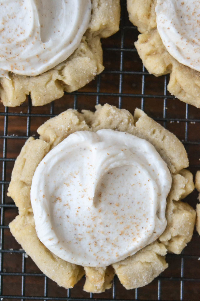Copycat SWIG cookies --- big, fat, frosted sugar cookies just like the ones from your favorite bakery!