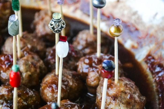 Drunken Cranberry Meatballs