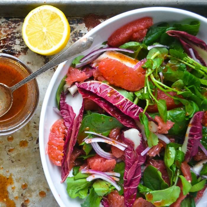 Pink Grapefruit and Watercress Salad