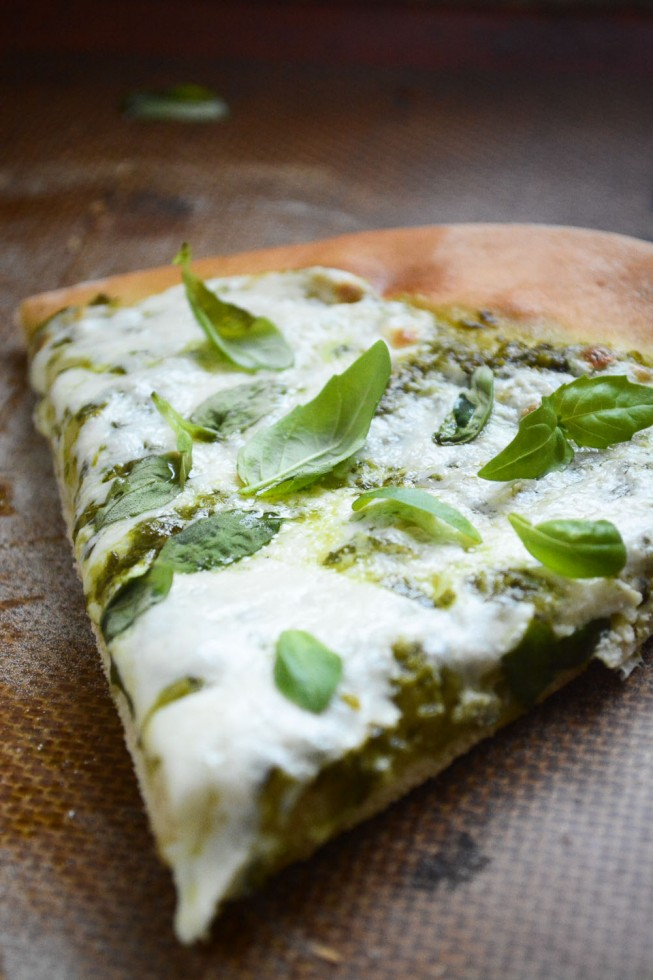 Basil Pizza made fresh in less than an hour with basil topping