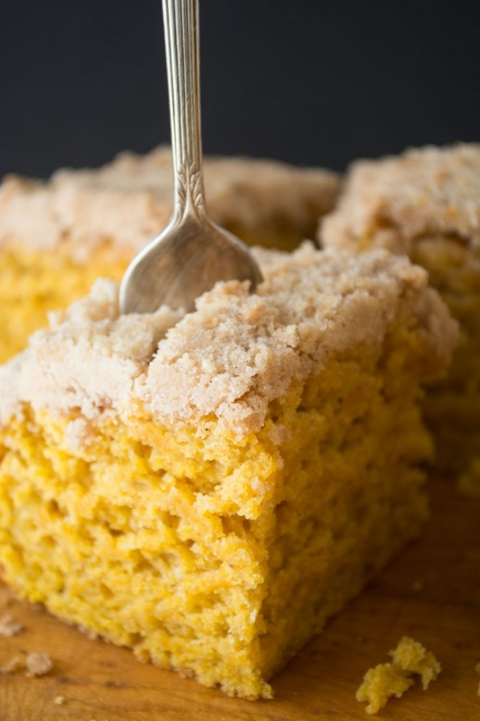 My Pumpkin Crumb Cake is a fall version of the classic New York style crumb cake