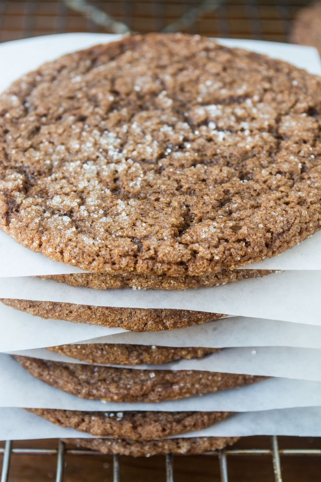 Chewy and Chocolately Ginger Cookies