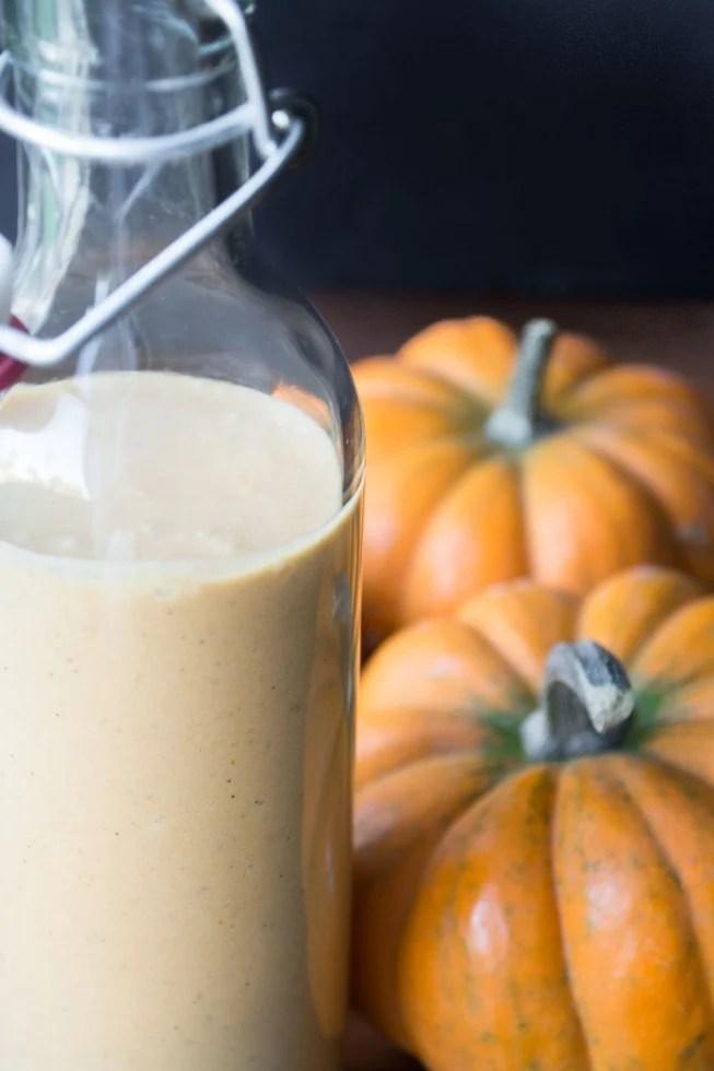 Creamy Pumpkin Liqueur recipe made with dark rum